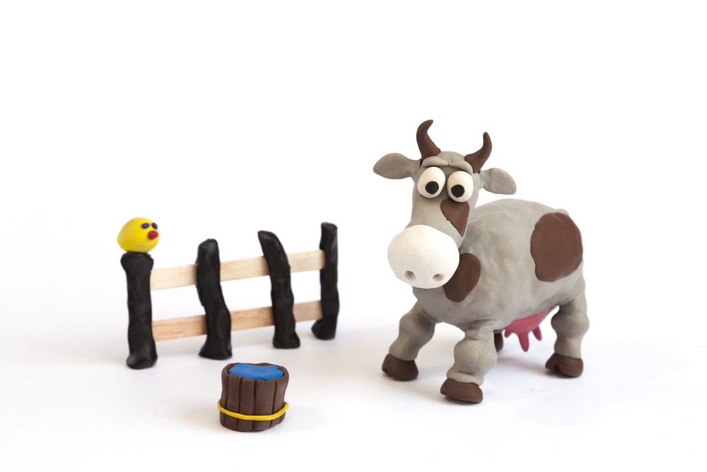 Картинки коровы из пластилина